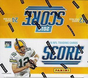 Verzamelingen 2019 Score Football sealed retail box 24 packs of 12 NFL cards