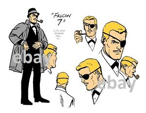 Image Is Loading BIRDMAN FALCON 7 MODEL SHEET PRINT Hanna Barbera