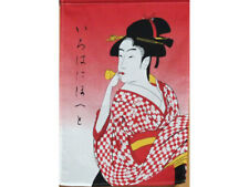 Noren Curtain Tapestry Kimono Lady 85×150cm 17-747 from JAPAN