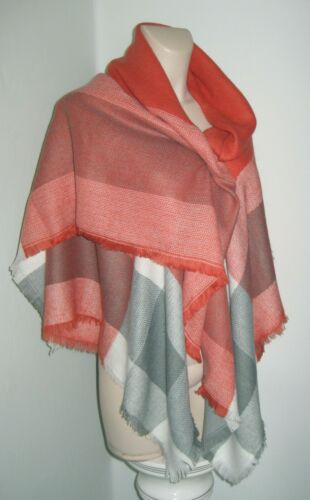 Soft Woven Scarf Shawl  Check Design Ladies Various Colours