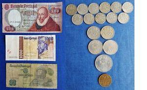 2-5-5-20-50-500-1000-Moneda-y-Billete-Escudos-de-Portugal-de-distintos-anos