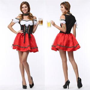 Ladies-Oktoberfest-Beer-Maid-Wench-German-Bavarian-Heidi-Fancy-Dress-Costume