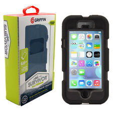 Griffin Survivor Tough Rugged Case For iPhone 5/5s/SE - Black/Black NEW Original