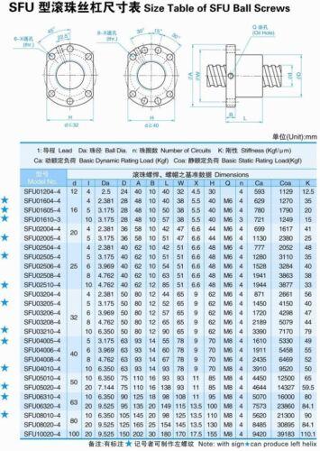 【US】 SFU1605 800mm Ballscrew c7/&BK BF 12 end support/&Nut housing CNC Machine kit