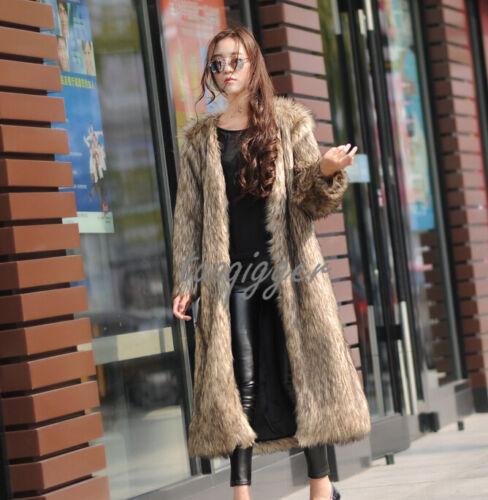 Faux Winter Frakke Fashion Trench 2016 Overcoat Jakke Parka Lang Fur Kvinder HwPg5