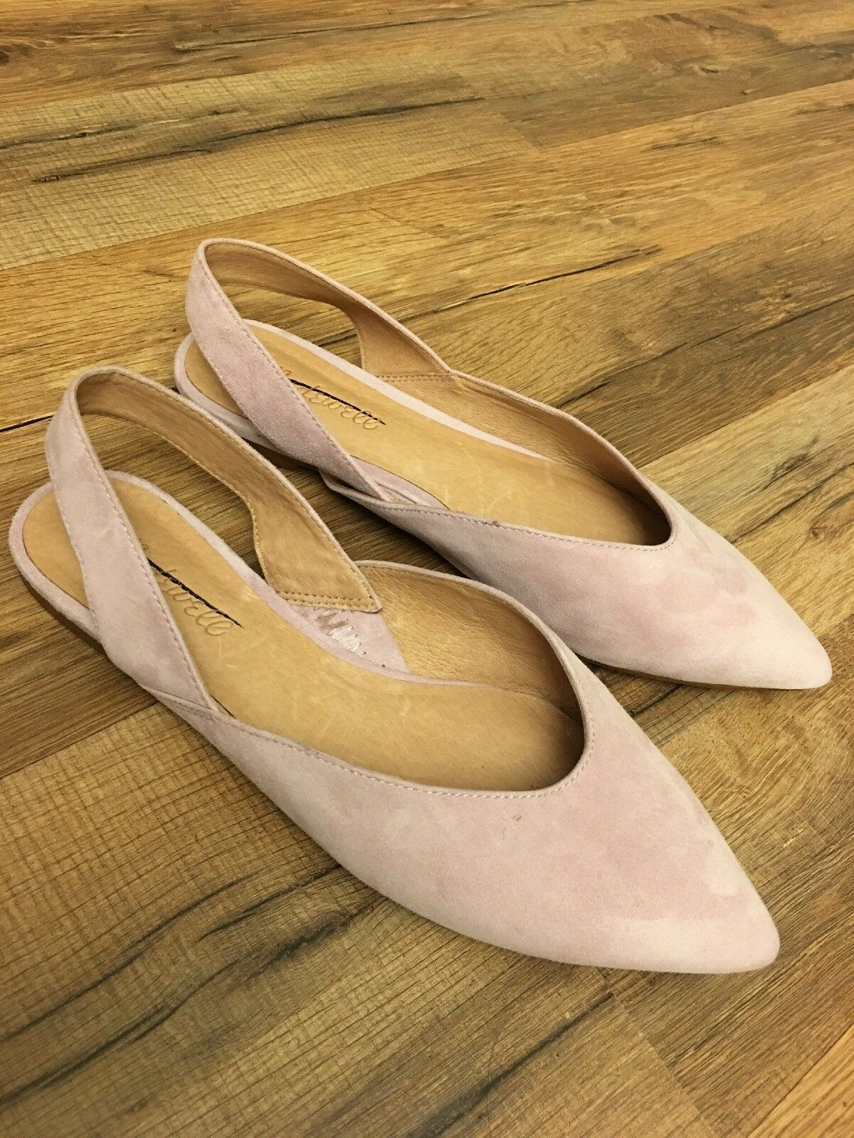 New Madewell The Ava Slingback Flat in Suede Antique Purple Sz 7.5 H6686