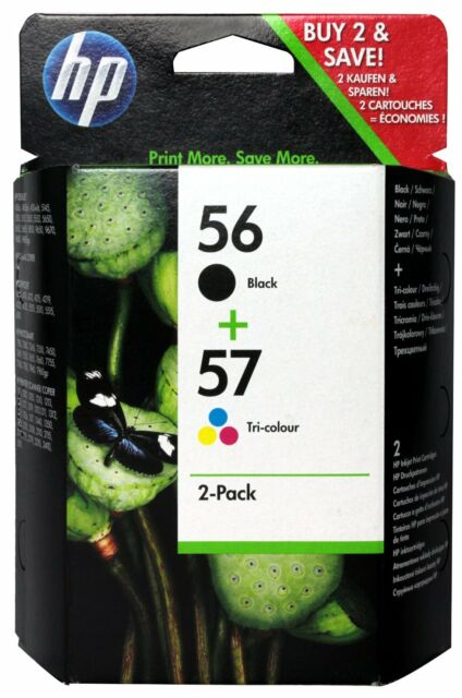 HP 56 Black and 57 Colour ( HP56/57 ) Twin Pack Printer Ink Cartridges