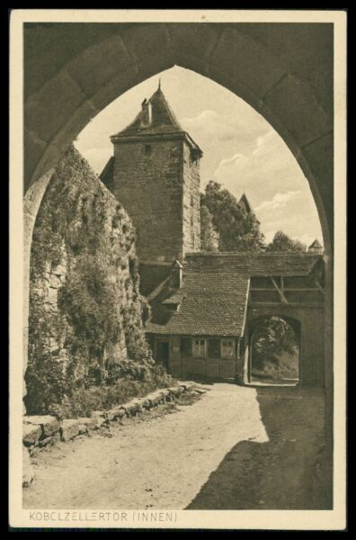 Architektur Ak Rothenburg Ob Der Tauber Alte Ansichtskarte Foto-ak Postcard Cx39