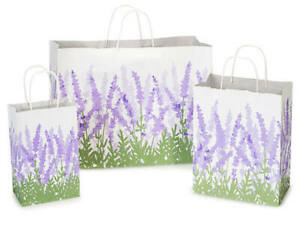 LAVENDER-FIELDS-Design-Party-Gift-Paper-Bag-ONLY-Choose-Size-amp-Pack-Amount