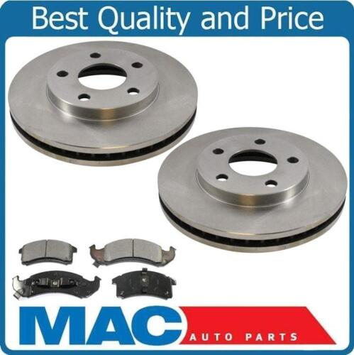 100/% New Front Brake Rotors /& Ceramic Pads for Pontiac Bonneville 1992-1993