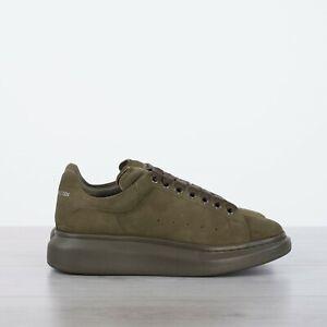 ALEXANDER-MCQUEEN-490-Oversized-Sneakers-In-Charcoal-Khaki-Suede