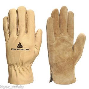 X2 Pairs Delta Plus Venitex Fib49 Water Repellent High Quality Leather Gloves Gardening Supplies