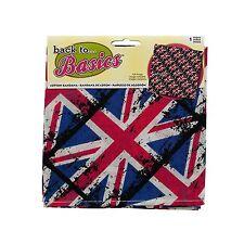 """British Flag Bandana 20""""x20"""" Head Scarf or Head Wrap"""
