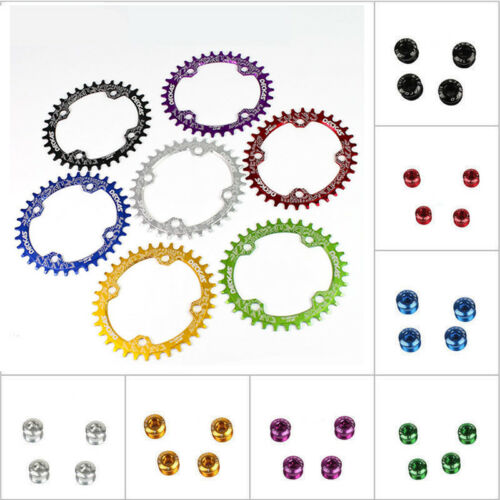DECKAS 104bcd MTB Bike Round//Oval Chainring 32//34//36//38T Narrow Wide Chain ring