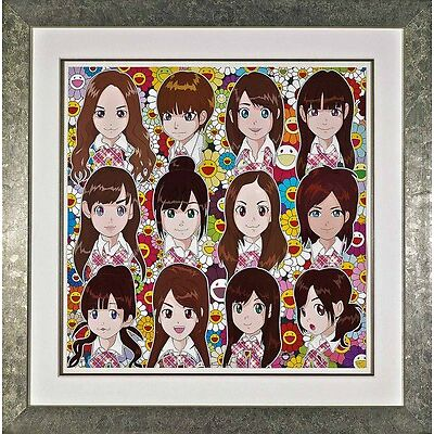 Takashi Murakami - Surprise, offset print with cold stamping, Framed