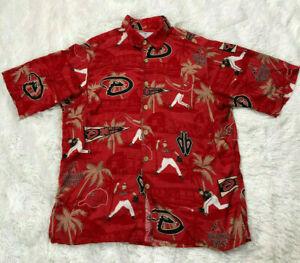 Reyn-Spooner-M-Shirt-MLB-Diamond-Back-Button-Down-Mens-Hawaiian-Top-Arizona
