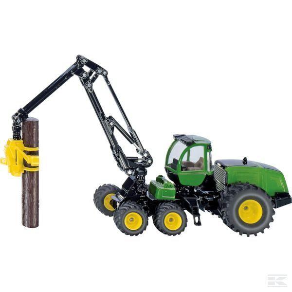 SIKU John Deere 1470E Harvester Forestry machine Modèle 1:50 jouet cadeau Noël