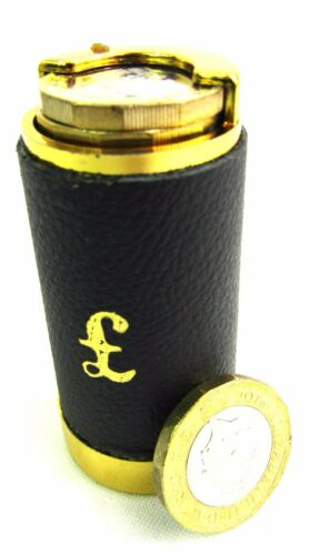 £1 Coin Holder Coin Tube One Pound Will hold new Pound Coins Leather Covered