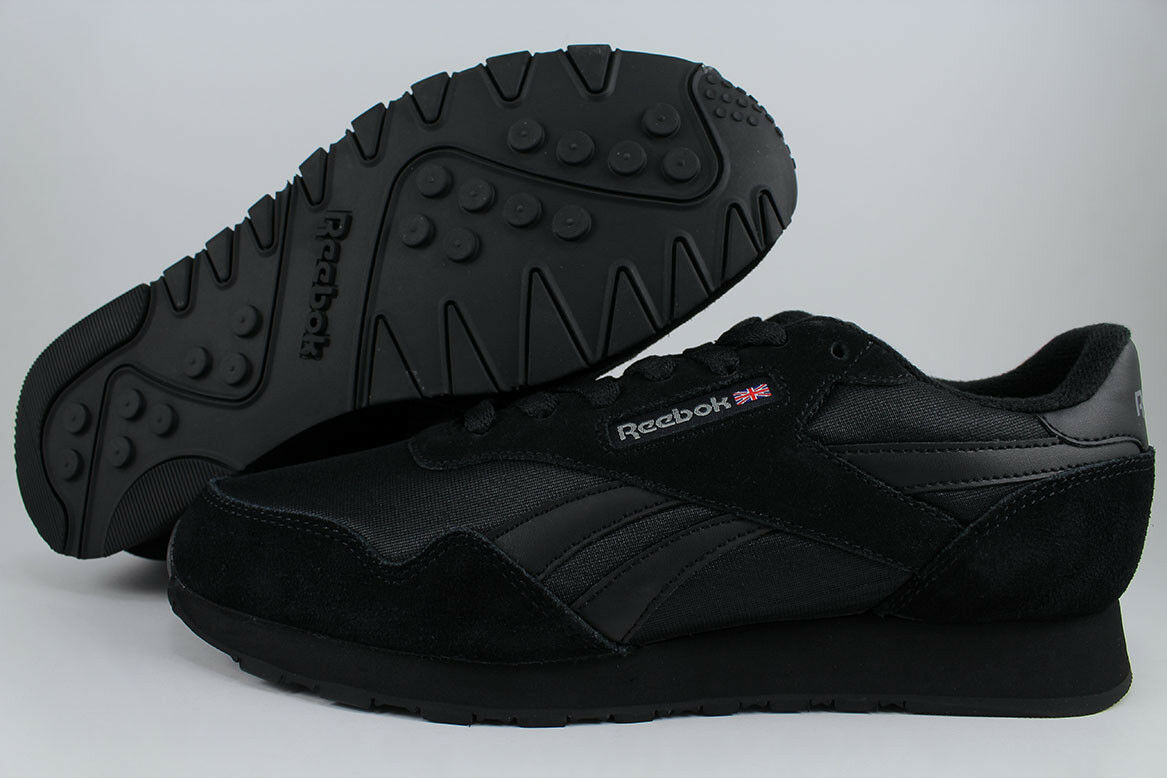 REEBOK ROYAL NYLON TRIPLE noir MONO CARBON gris RUNNING SUEDE CLASSIC hommes SIZES
