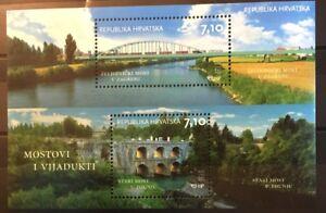 Bridges-railway-Zagreb-Tounj-mnh-souvenir-sheet-2013-Croatia-870-tiny-train