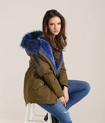Charcoal Fashion Women/'s Plum Red Fur Lined Winter Parka 06W17 CARNATION
