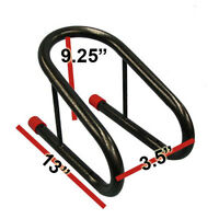 3.5  Black Motorcycle Tire Wheel Chock Removable Chocks For Trailer