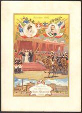 Grand Chromo. Au Bon Marché. Visite Victor-Emmanuel III Paris 1903. Italie
