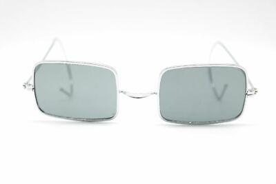 Agente Vintage 47 [] 22 Argento Rettangolare Occhiali Da Sole Sunglasses-