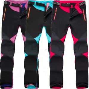 Image is loading Outdoor-Fleece-Lined-Windproof-Hiking-Pants-Waterproof-Ski- c8f23e820