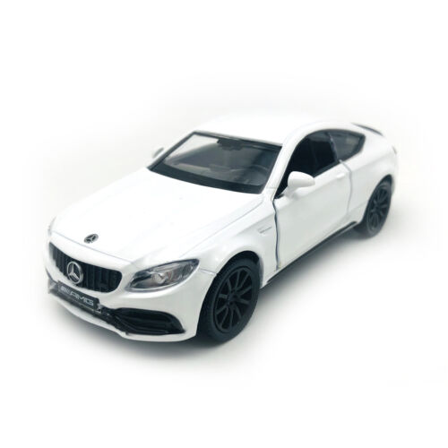 Mercedes-Benz C63 S AMG BBG 1//36  White Diecast Vehicle Pull Back Model Car Toy