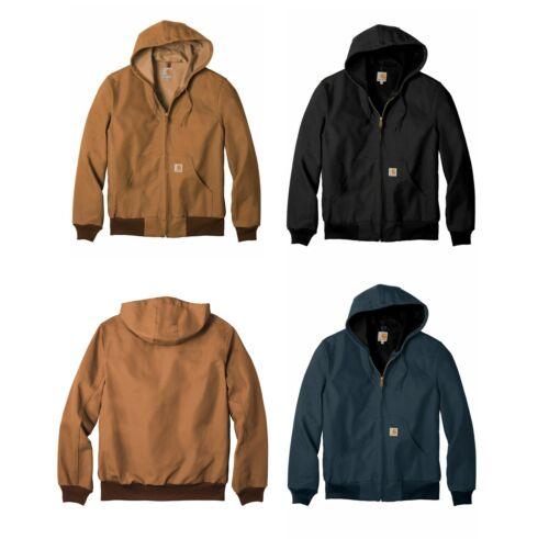 New Carhartt Mens Thermal Lined Duck Active Jacket Coat Winter J131