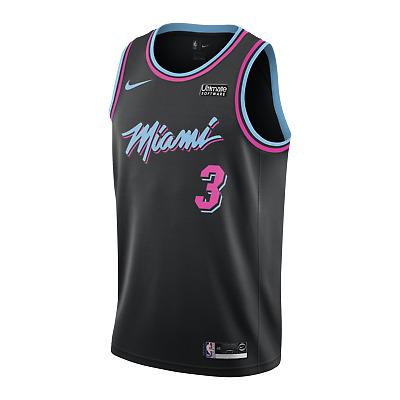New 2018-2019 Nike Miami Heat Dwyane Wade 3 City Edition ...
