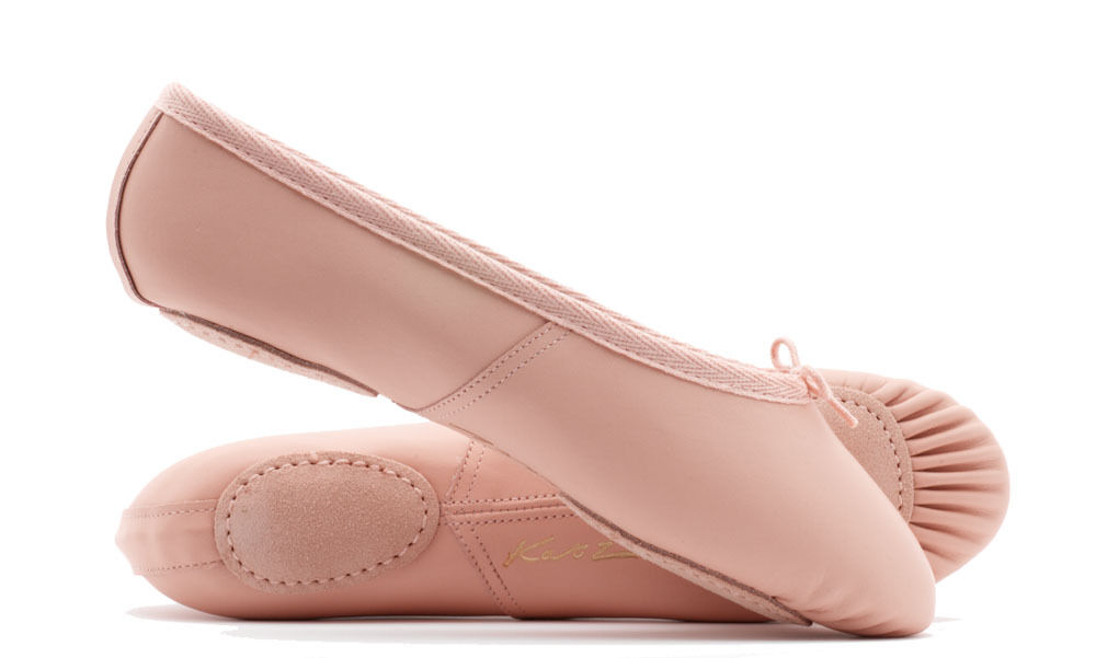 Pink Leather Split Sole Ballet Shoes Childs Adults All sizes By Katz Dancewear