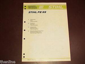 Stihl fe 55 parts list manual chainsaw.
