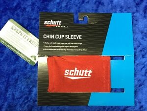 Football-Helmet-Chinstrap-Chincup-Cover-Sleeve-Schutt-Red-New