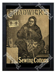 Historic-Chadwick-039-s-Sewing-Cottons-Eggley-Mills-1880s-Advertising-Postcard