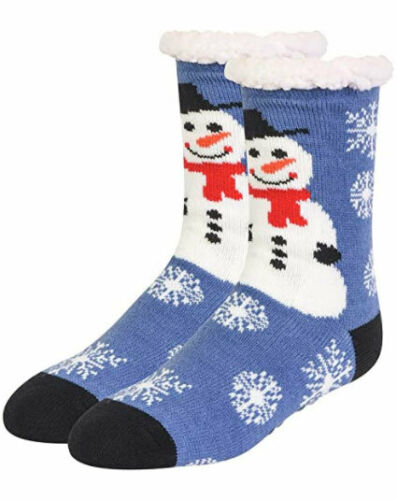 Women Thermal Christmas Non-Skid Slipper Socks Soft and Fuzzy