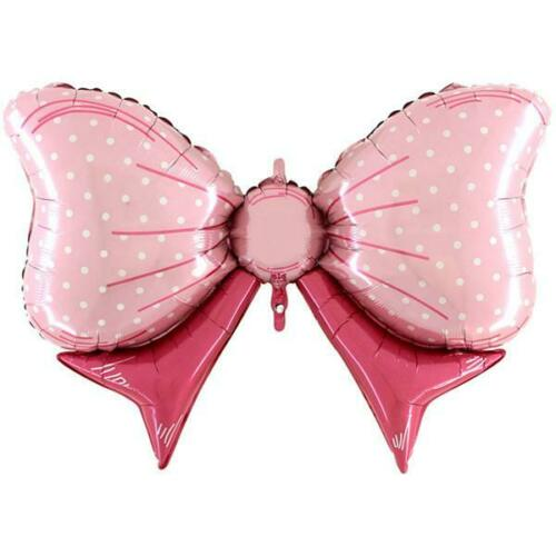 """Pink Bow Shaped 43/"""" Supershape Foil Balloon"""