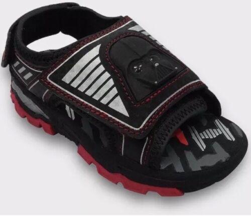 9//10 M NWT Boy/'s Star Wars Darth Vader Light Up Sandals L S 7//8 Sz 5//6