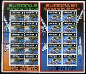 Gibraltar-Kleinbogensatz-MiNr-613-14-postfrisch-MNH-Cept-1991-OZ672