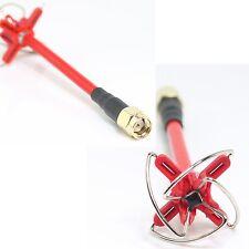 1 pair 2 pc Aomway 4 blade 5.8Ghz Cloverleaf FPV TX/RX Antenna RP SMA Female