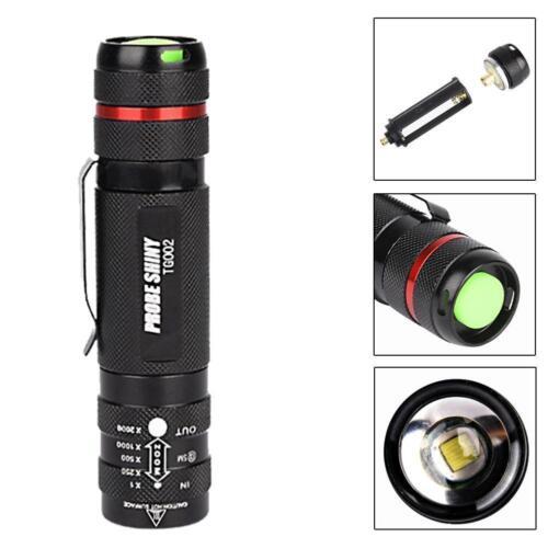 Zoomable 6000 Lumen 5 Modes T6 LED 18650 Flashlight Penlight Torch Lamp Light BG