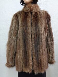 Size Natural Coat Mint 8 Women Raccoon 10 Woman Medium Fur Jacket FnnHaA