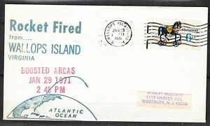 United-States-1971-Jan-29-space-cover-Rocket-Fired-from-Wallops-Island-NASA