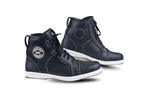 New-Mens-Sturgis-Waterproof-Motorcycle-Casual-Sneaker-Real-Leather-Boot