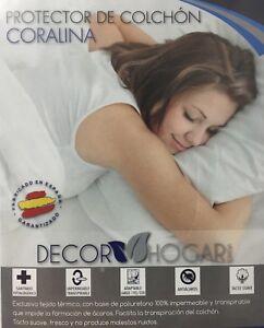 Protector de Colchón Impermeable Transpirable para 90 105 135 150 DECOR HOGAR