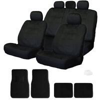 For Vw Semi Custom Black Velour Car Seat Covers Mats Set