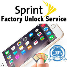 SPRINT PREMIUM FACTORY UNLOCK SERVICE CODE FOR IPHONE 7 PLUS 6S 6 SE 6 5S IMEI'S