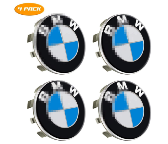 Wheel Center Caps Emblem for BMW 68mm Rim Center Hub Caps for All Models with BMW Wheels Logo CCBaseball Set of 4 Black
