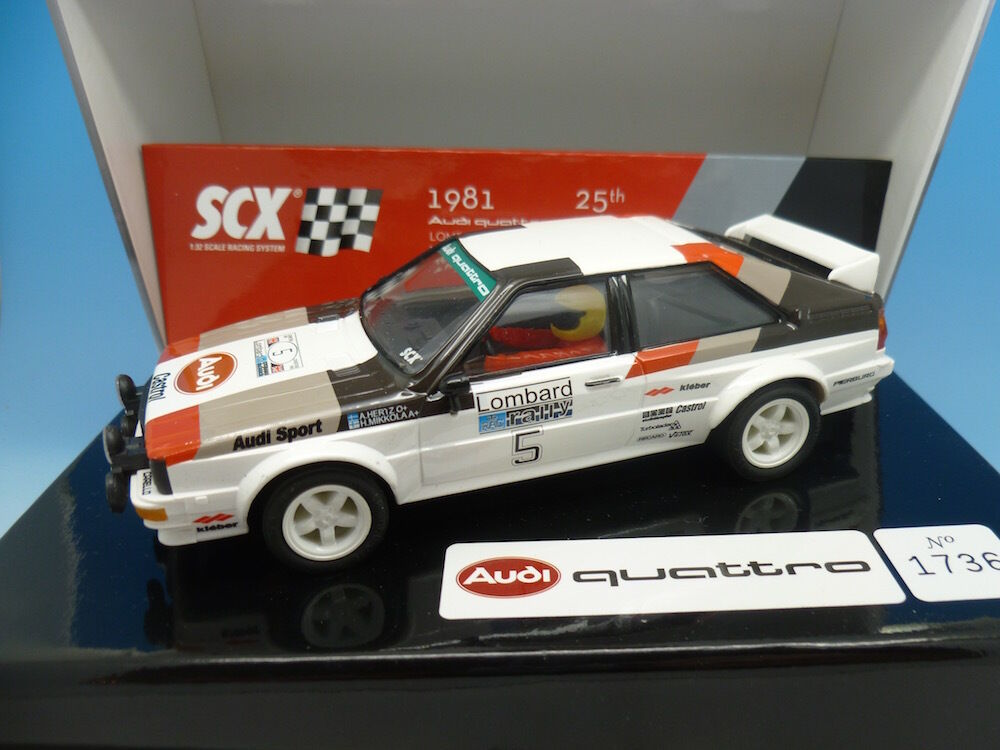 SCX 62330 Audi Quattro 1981 Lombard RAC Rally, limited Edition, mint boxed unuse